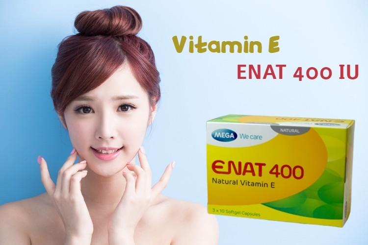 [Reivew] Cách uống vitamin e Enat 400 làm đẹp da hiệu quả