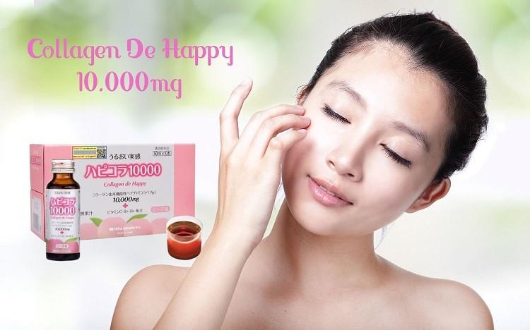 [Review] Làm đẹp hiệu quả với Collagen De Happy 10000mg dạng nước của Nhật