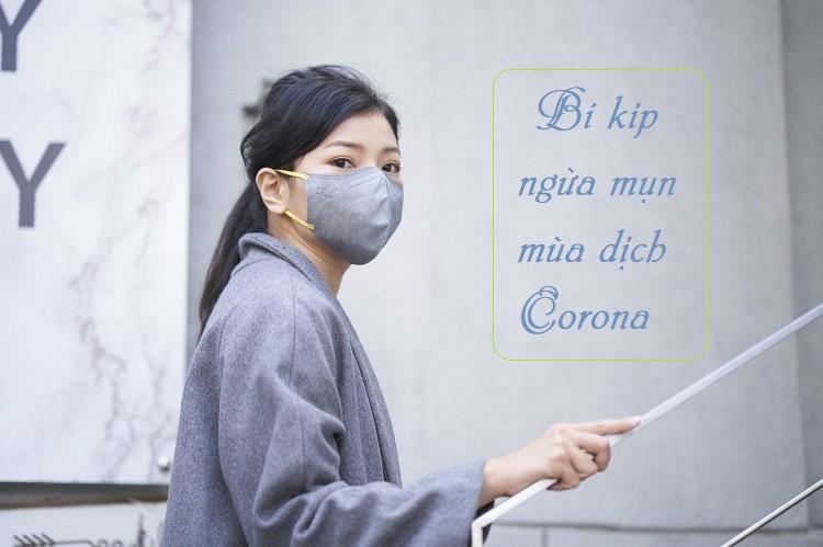 Bí kíp ngừa mụn khi đeo khẩu trang mùa dịch Corona