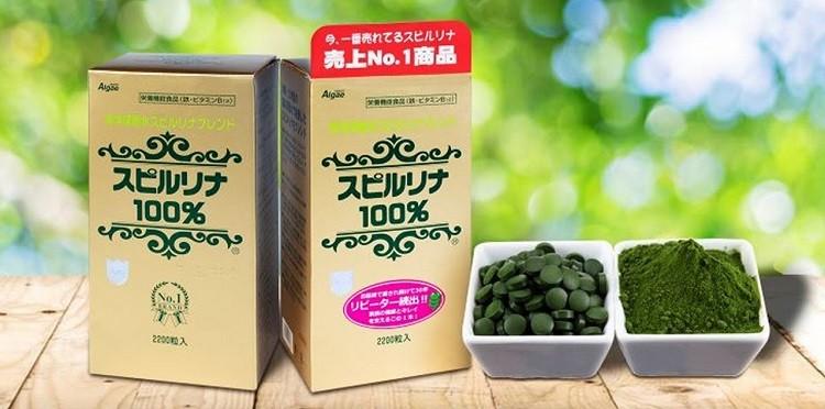 Review viên uống tảo xoắn Spirulina Nhật Bản 2200 viên chi tiết
