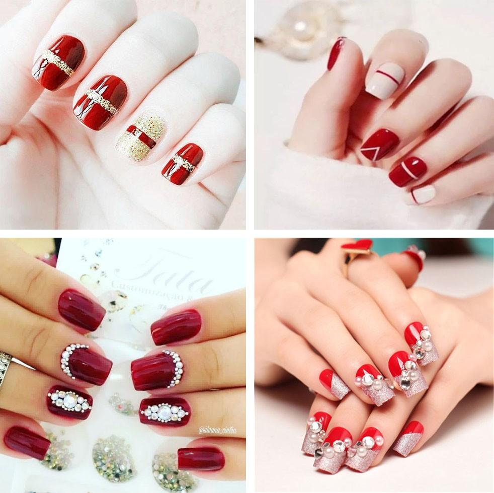 Tổng hợp các mẫu nail đẹp nhất cho chị em diện Tết