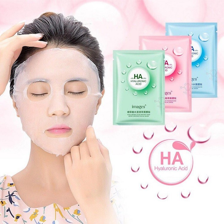 Mặt nạ giấy dưỡng trắng da mụn cấp ẩm thải độc HA