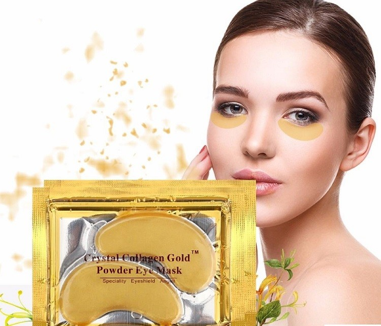 Mặt nạ mắt Crystal Collagen Gold Powder Eye Mask review
