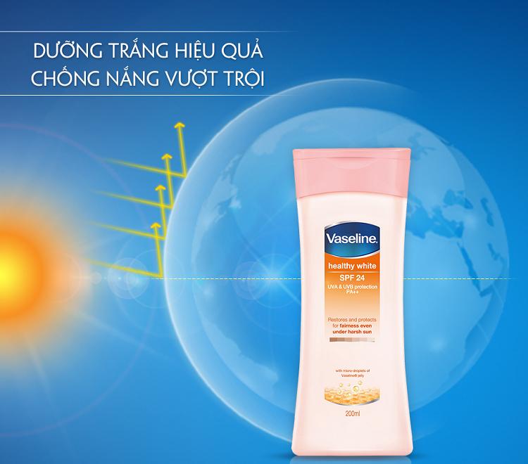 Sữa dưỡng thể Vaseline chống nắng có tốt không