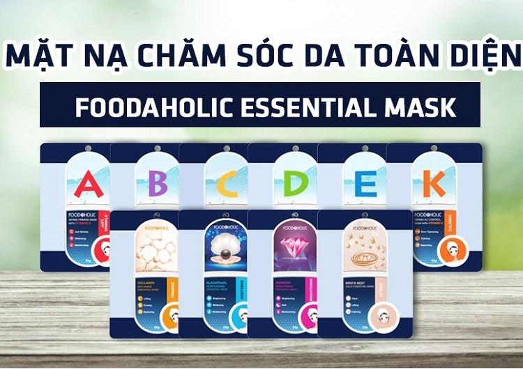 Mặt nạ giấy chăm sóc da toàn diện Foodaholic Essential Mask