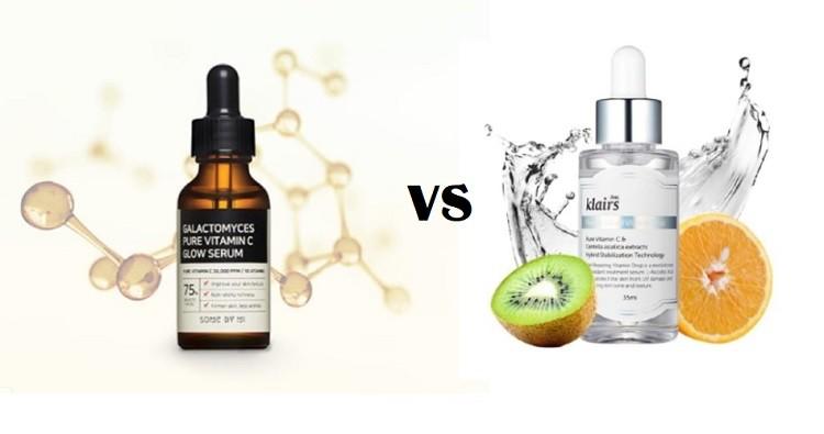 So sánh serum Klairs và Some By Mi