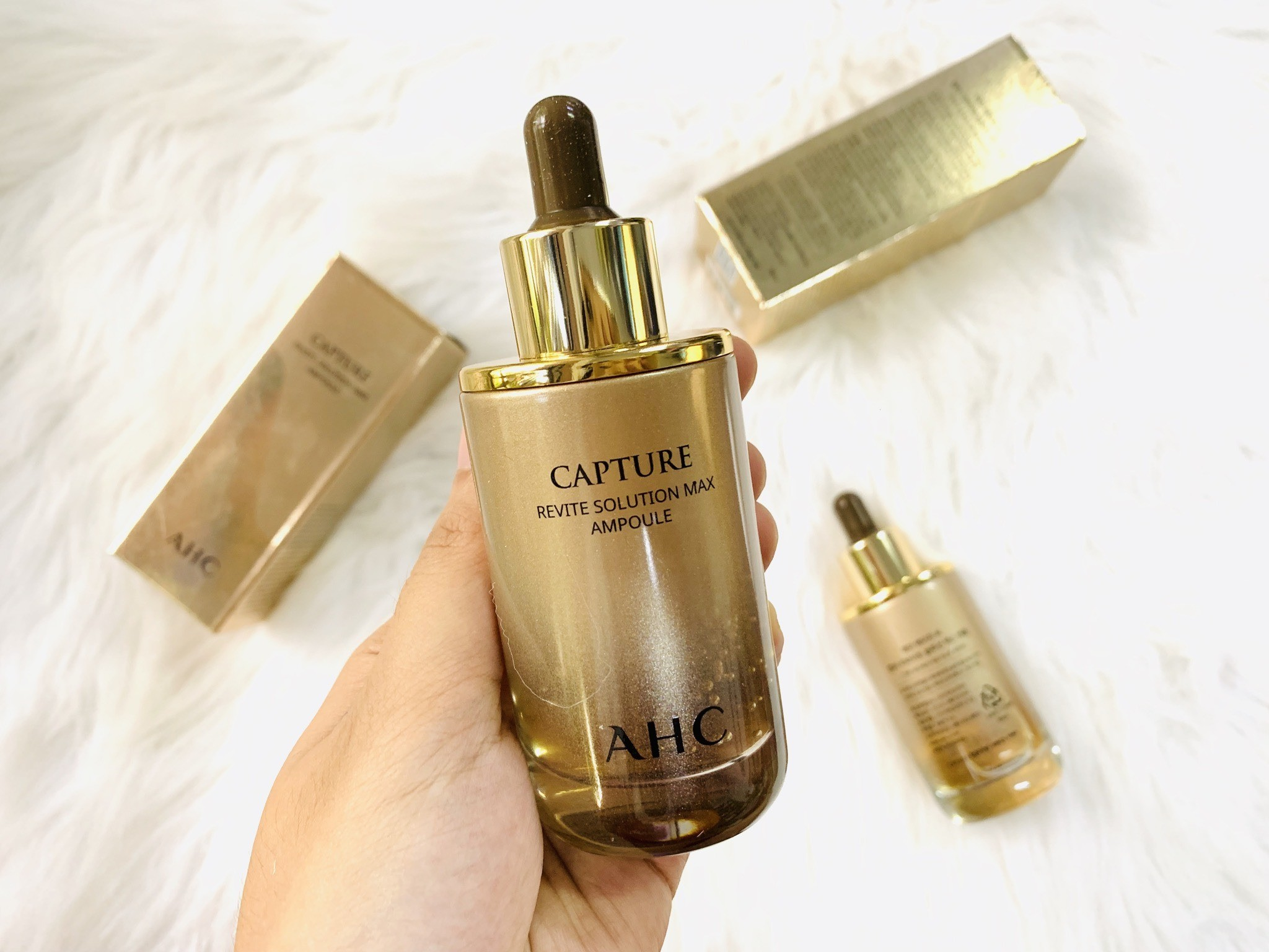 Tinh chất AHC Capture Revite Solution Max Ampoule review chi tiết