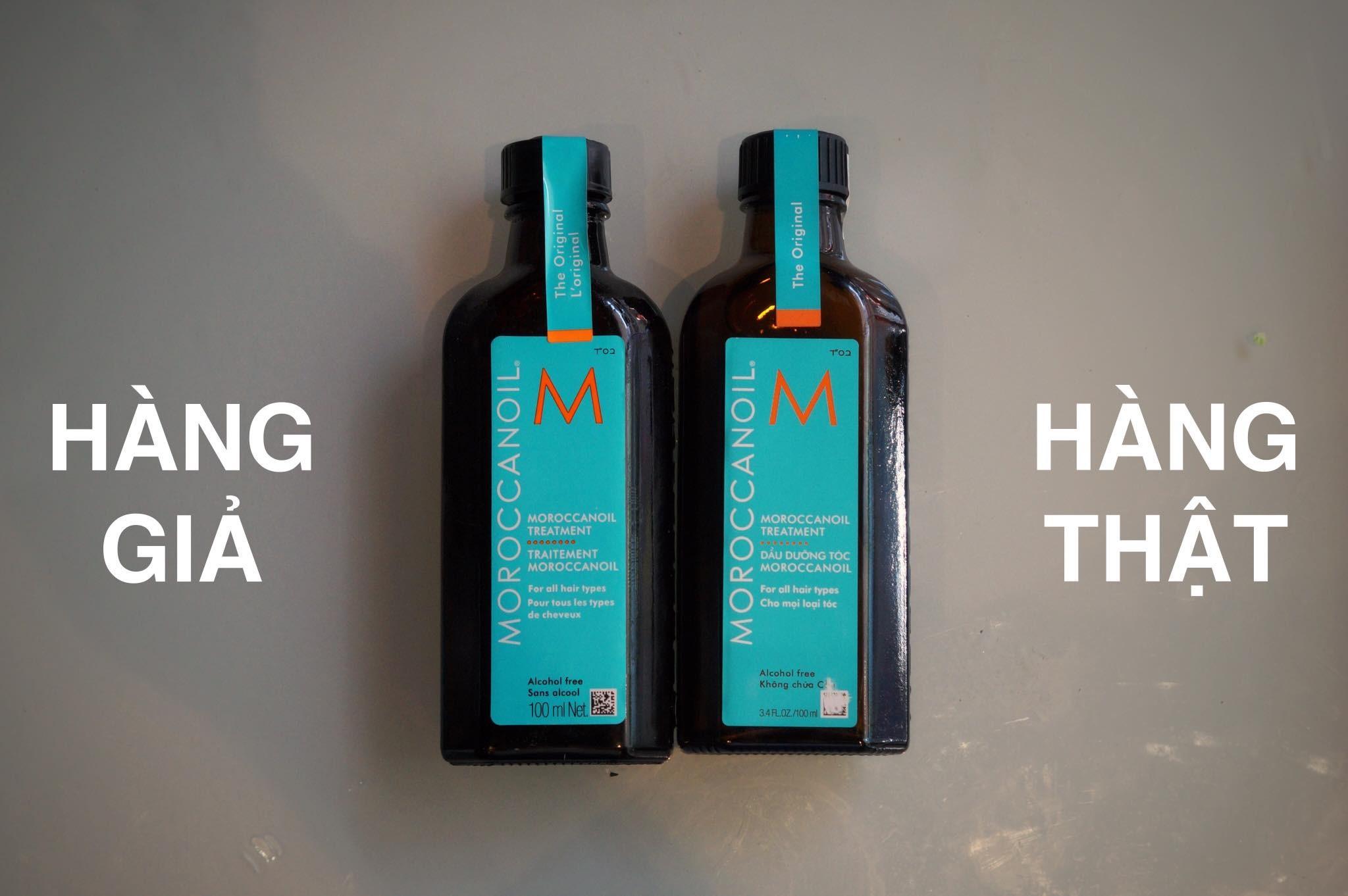 Cách phân biệt tinh dầu dưỡng tóc Moroccanoil thật giả