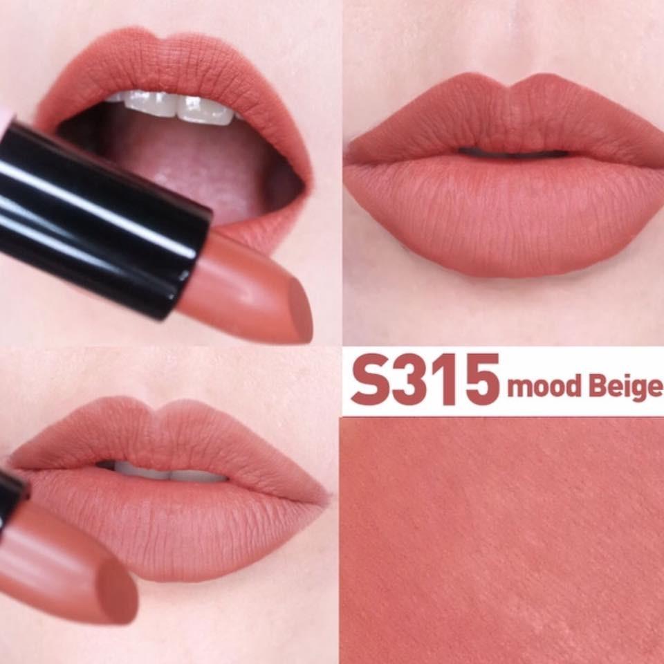 SonAmok Luxury Lovefit màu S315 rất được lòng các cô nàng là fan của son màu cam đất