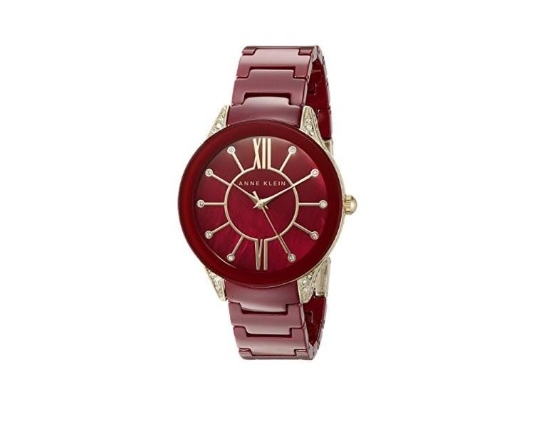 Đồng hồ mặt đỏ Anne Klein AK/1672BYGB