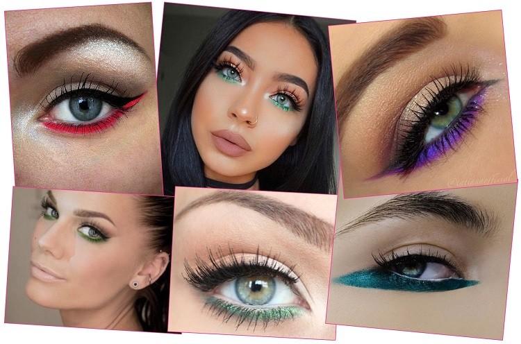 trang điểm mắt nhiều màu