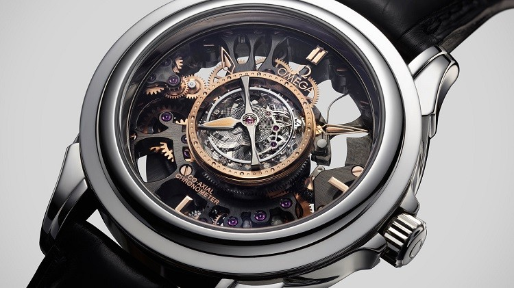 Omega Skeletonized Tourbillon Co-Axial Platinum Limited Edition