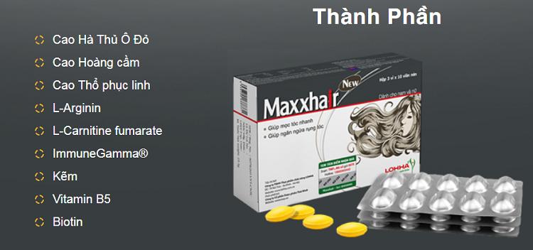 thành phầb maxxhair