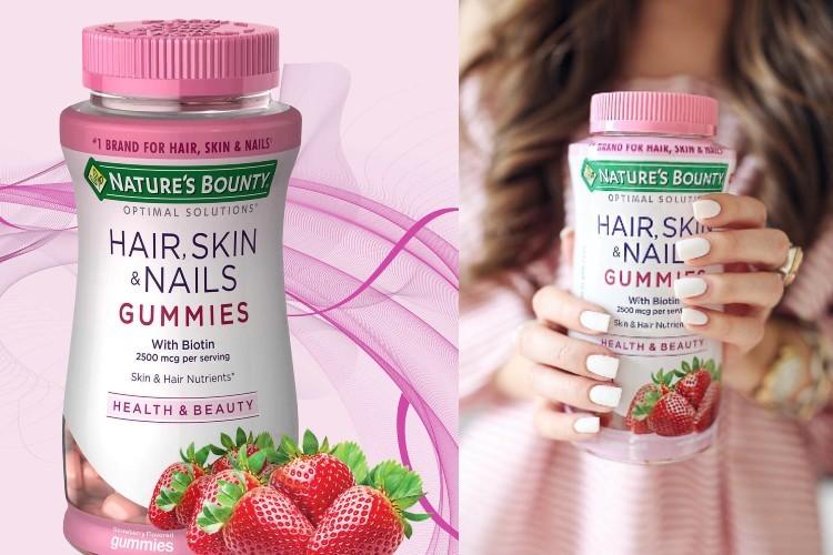 Kẹo dẻo đẹp tóc, móng, da Hair, Skin & Nail Gummies