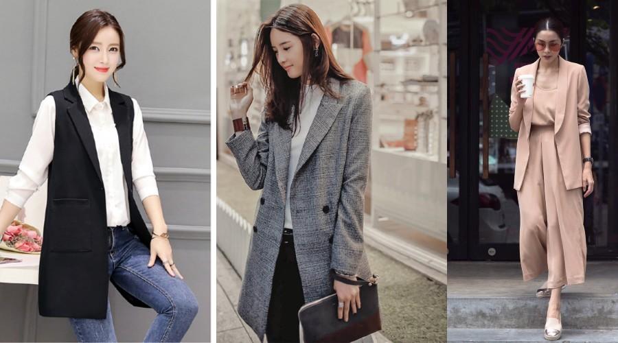 Áo hai dây, quần culottes và áo khoác ghi lê dài