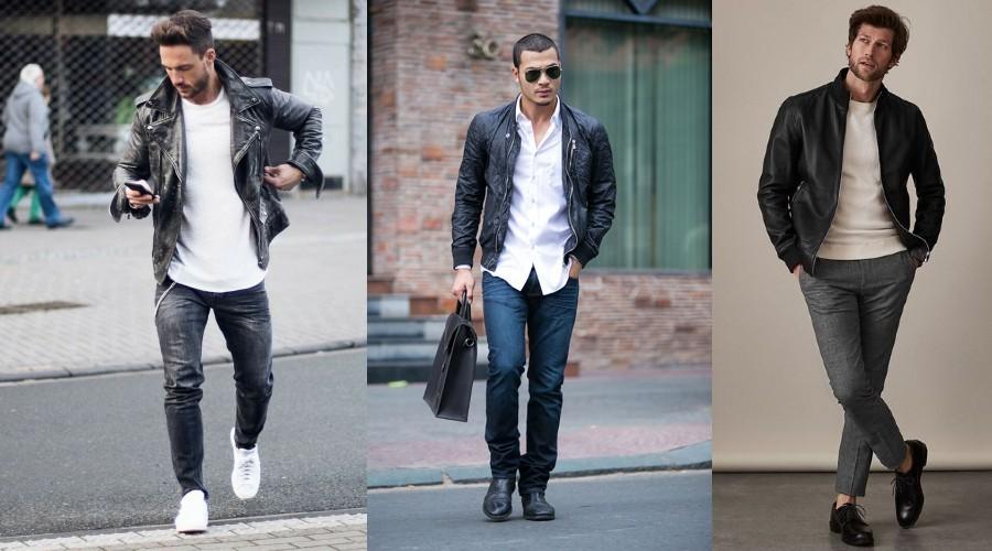 Áo phông, quần jean và áo khoác da