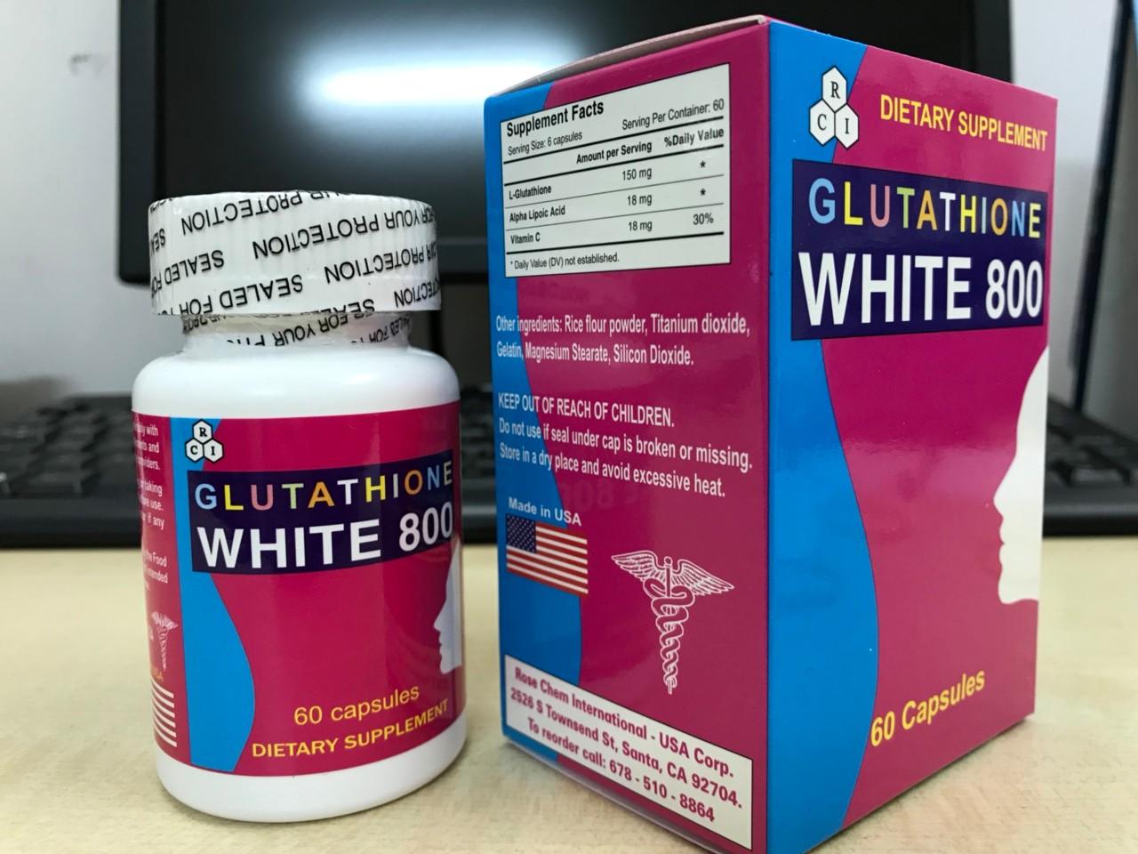 Viên uống Glutathione White 800