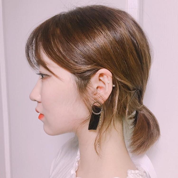 cột tóc thấp