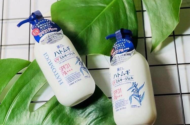 Review sữa dưỡng thể Hatomugi, sữa dưỡng thể Hatomugi